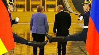 Angela Merkel und Wladimir Putin im Kremlpalast an diesem Freitag