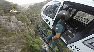 Rettung mit dem Hubschrauber in der Provinz Granada