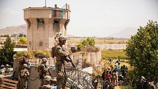 نظامیان آمریکایی در فرودگاه کابل