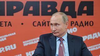 Archív felvétel: Putyin elnök az orosz újságok és hírügynökségek vezetőivel találkozik