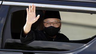 رئيس الوزراء الماليزي الجديد إسماعيل صبري يعقوب أثناء مغادرته القصر الوطني بعد مراسم أداء اليمين في كوالالمبور،  السبت 21 أغسطس 2021.