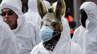 Protest gegen Corona-Regeln in der Schweiz - Symbolbild