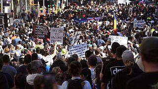 مسيرة مناهضة للإغلاق في ملبورن - استراليا- 21  آب /  أغسطس 2021
