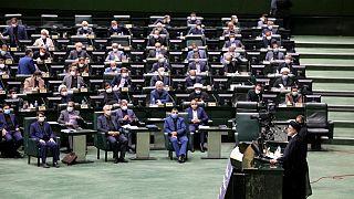Le président Ebrahim RaÏssi devant les députés - Téhéran (Iran), le 21/08/2021