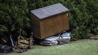 Последствия наводнения в Северной Каролине