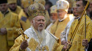 Патриарх Варфоломей проводит литургию в Киеве
