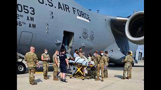 Amerikai katonai repülőgépen szült egy afgán nő az evakuálás közben