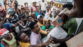 Quake-ravaged Haitian city receives aid