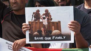 برگزاری تظاهرات در حمایت از مردم افغانستان در پاریس