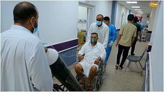 صورة لأحد الممرات داخل مستشفى النجف وسط العراق