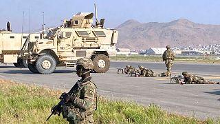 نظامیان خارجی در فرودگاه کابل