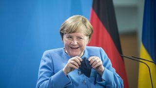 Ангела Меркель на переговорах в Киеве.