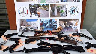 In Marseille beschlagnahmte Waffen (Aufnahme aus dem Februar 2021)