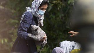 پناهجوی افغان در مرز بلاروس و لهستان