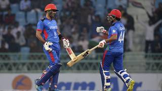 مباراة الكريكيت الدولية (ODI) الثالثة ليوم واحد بين أفغانستان وجزر الهند الغربية، في لكناو، في 11 نوفمبر 2019.