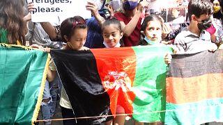 تصاویری از دهلی نو؛ تظاهرات پناهجویان افغان در مقابل دفتر سازمان ملل متحد