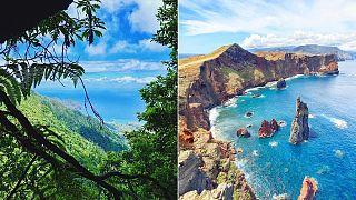 تصویر هوایی از جزیره مدیرا