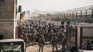 Американские военные в аэропорту Кабула