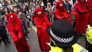 Lors de la manifestation pour le climat ce lundi à Londres