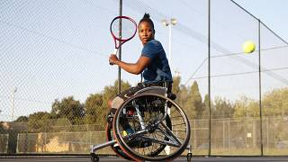 A wheelchair tennis player from South Africa defies the odds