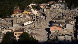 Una foto di archivio di Amatrice, dopo il terremoto