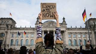 Demonstrations to show solidarity with Afghan refugees, Berlin/Germany, 17 Aug 2021