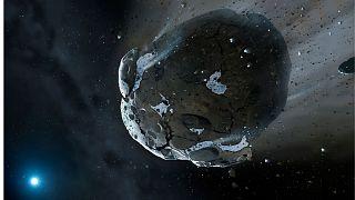 تصویرسازی از سیارک سرگردان در منظومه شمسی