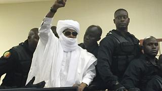 الرئيس التشادي السابق حسين حبري أثناء محاكمته في السنغال في عام 2016