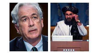 ویلیام برنز، رییس سیا در سفری محرمانه به کابل با ملا عبدالغنی برادر، معاون سیاسی رهبری طالبان دیدار کرد