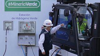 Sebastián Piñera en la presentación de la estación de hidrógeno verde