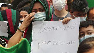 تصاویری از اندونزی؛ مهاجران افغان در تظاهراتی علیه طالبان خواستار اسکان سریع شدند