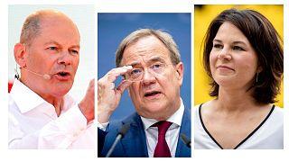 آنالنا بائربوک، آرمین لاشت و اولاف شولتز، سه نامزد صدراعظمی آلمان