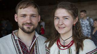 Pavlo Shykin, 27, and Dana Vitkovska, 26 were born just after independence