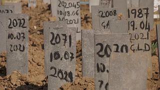 Van'da mülteci mezarlığı