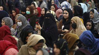A nemzetközi nőnapot ünneplik afganisztáni nők 2021. március 7-én