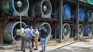 نصب  ۴۰ دستگاه تهویه غولپیکر در یک برج در دهلی نو برای کاهش آلودگی هوا