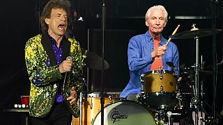 Charlie Watts a la batería durante un concierto de los Rolling Stones en Estados Unidos