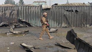 Britischer Soldat in Kabul (Aufnahme von 2018)