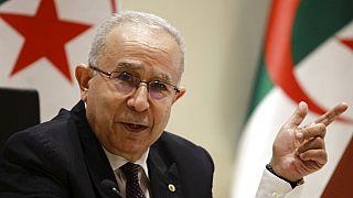 Chef de la diplomatie algérienne Ramtane Lamamra lors de son annonce à Alger, 24 août 2021