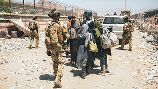نظامیان آمریکا در فرودگاه کابل