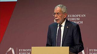 Il Presidente austriaco Alexander Van der Bellen.