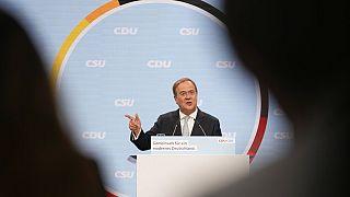 CDU-Kanzlerkandidat Armin Laschet im Wahlkampf vor der Bundestagswahl in Berlin