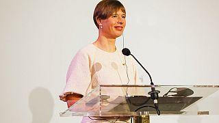 Estonya'nın ilk kadın Cumhurbaşkanı Kersti Kaljulaid.