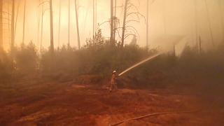 Brand bei Nischni-Nowgorod