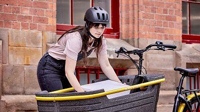 The Raleigh Stride 3 E-cargo bike.