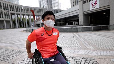 Image of Paralympic canoeist, Masaaki Suwa in Tokyo.