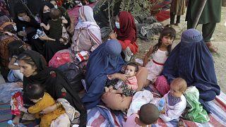 Binnenflüchtlinge in einem Park in Kabul, Foto vom 9. August
