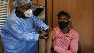 Virus jabs available on board S.Africa's vaccine train