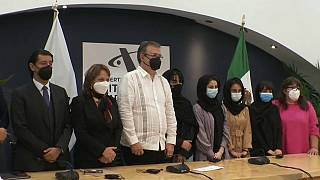 Las Afghan Dreamers, a su llegada a México