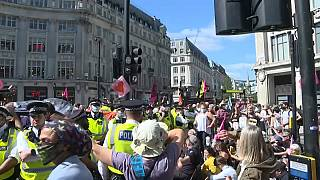 Klima-Proteste im Zentrum von London sorgten für massive Verkehrsbehinderungen